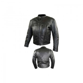 Leather Motorbike Men's Jacket AMS- 165