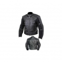 Leather Motorbike Men's Jacket AMS- 167