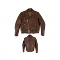 Leather Motorbike Men's Jacket AMS-170
