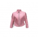 Women's Ladies Blazer Coat Leather Motorbike Jacket Designer Adjustable Fashion Protection
