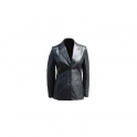 Women's Ladies Leather Blazer Coat Jacket Designer Adjustable Fashion Protection